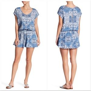 Show Me Your MuMu Pants - SHOW ME YOUR MUMU Rowdy Romper Blue Pattern NWT
